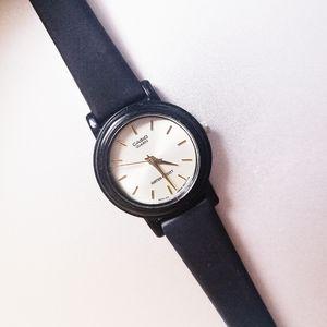 Vintage Casio Slim Black Watch